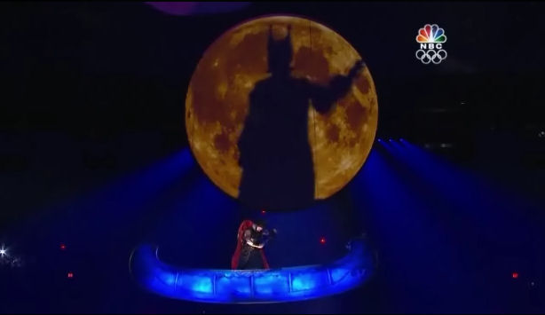 2010 Winter Olympics Opening Ceremony Vancouver Canadan Shadow Fiddler on the moon