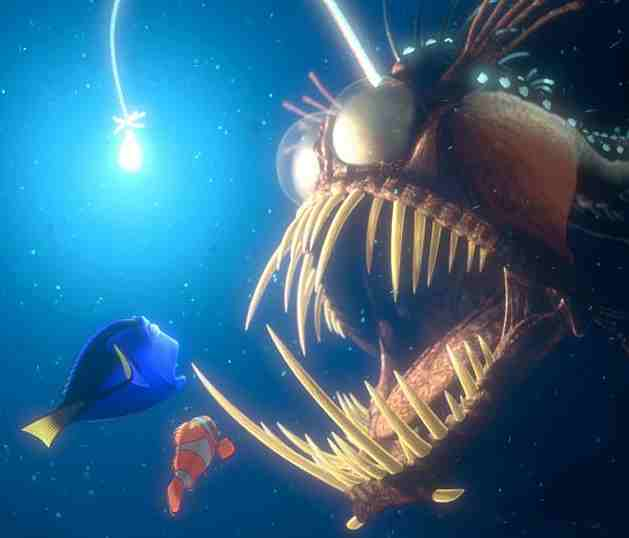 BUG ZAPPING TRICKSTERS OF THE LIGHT … FISHERSMEN and SOUL CATCHERS Finding-Nemo-Angler-Fish
