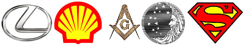 Illuminati signs in logos