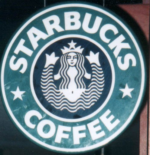 Starbucks old siren logo