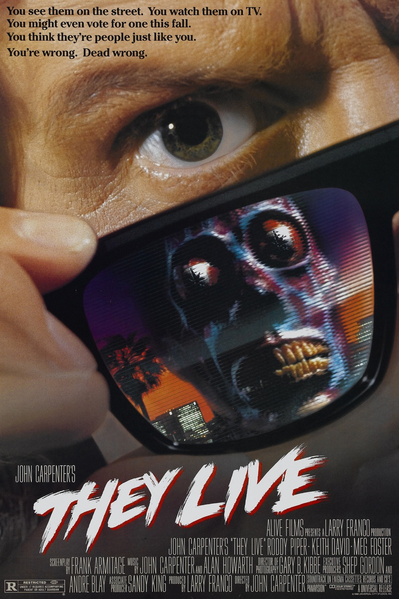 Movie Poster Sunglasses They Live Movie Poster