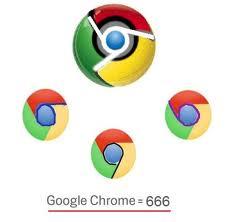 Google Chrome 666 logo