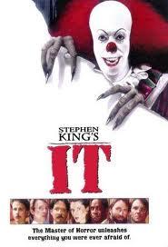 "Stephen King -- ""IT"" book movie logo"