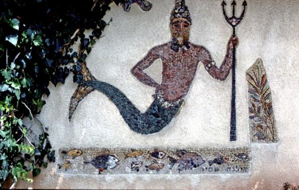 Mosaico representando al dios Dagon